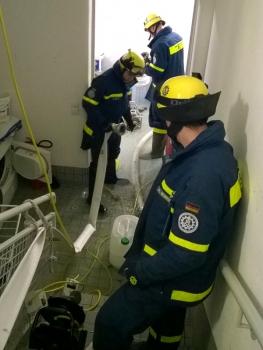 Keller unter Wasser: Am Silvestermorgen im Keller eines Bad Staffelseiner Hallenbades
