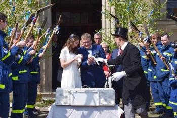 Beim Auszug aus der Kirche standen die THWler Spalier